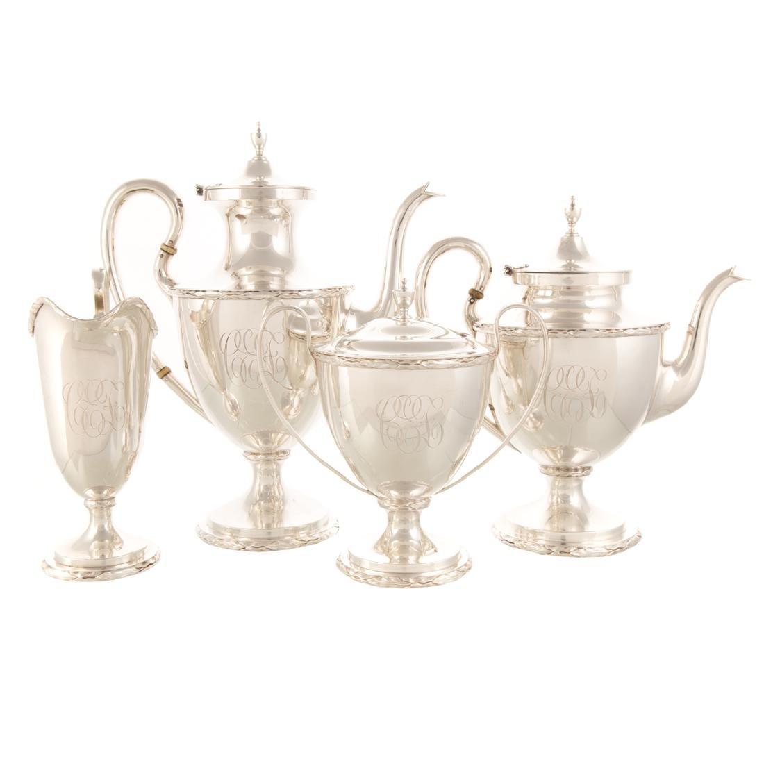 Kirk Neoclassical style sterling coffee & tea set