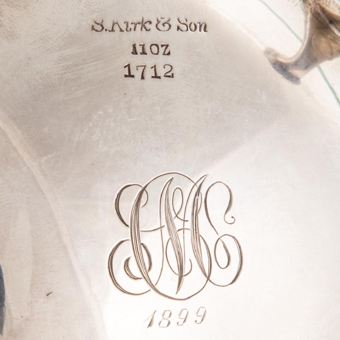 Kirk repousse sterling sugar bowl & creamer - 7
