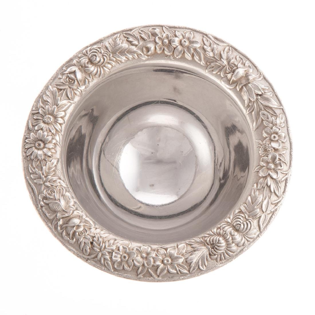 Kirk repousse sterling mayonnaise bowl - 3