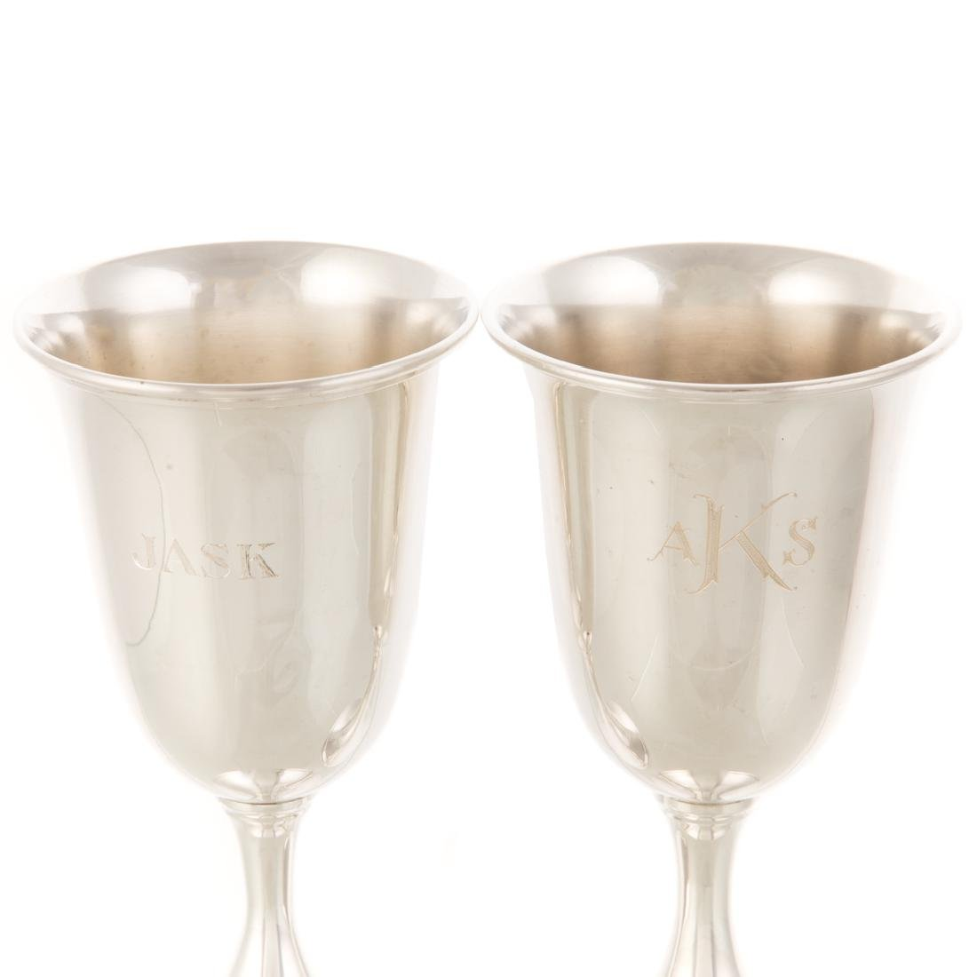 Set of 10 Kirk sterling silver goblets - 3