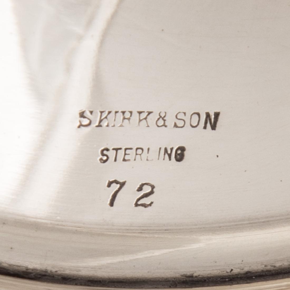 Set of 10 Kirk sterling silver goblets - 4