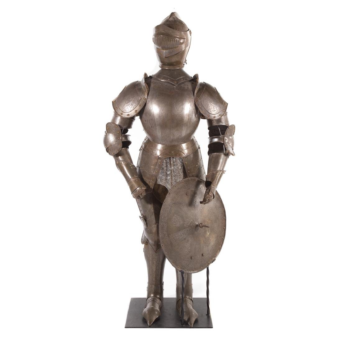Full-size reproduction suit of armor