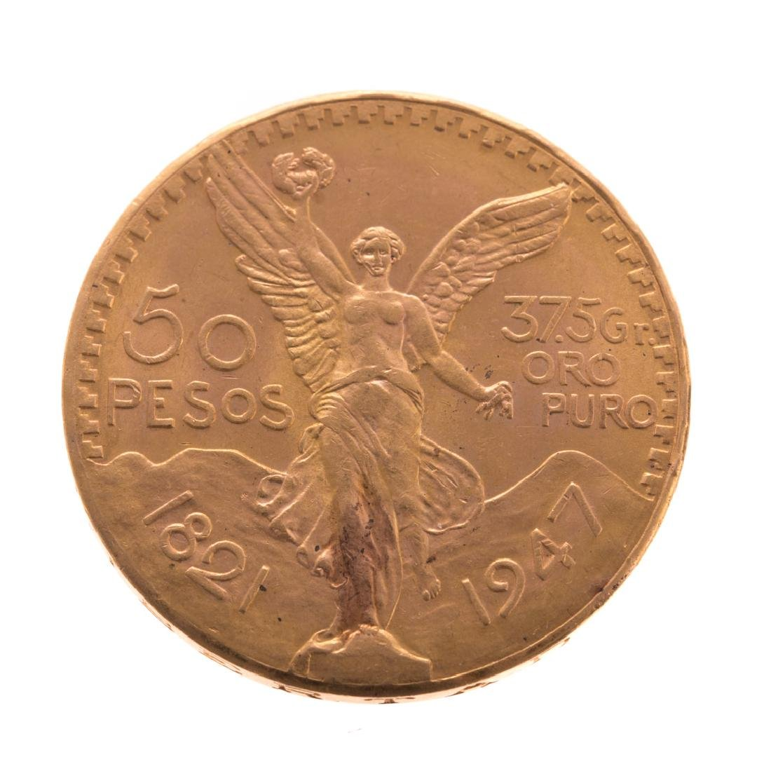 [World] Mexican 1947 50 Pesos Gold