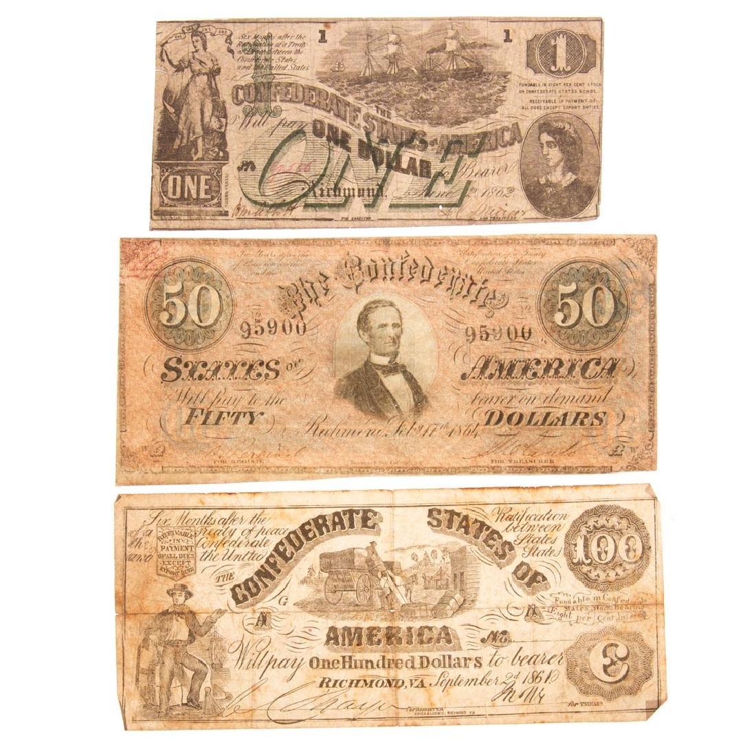 [US} Several Scarce Confederate Notes