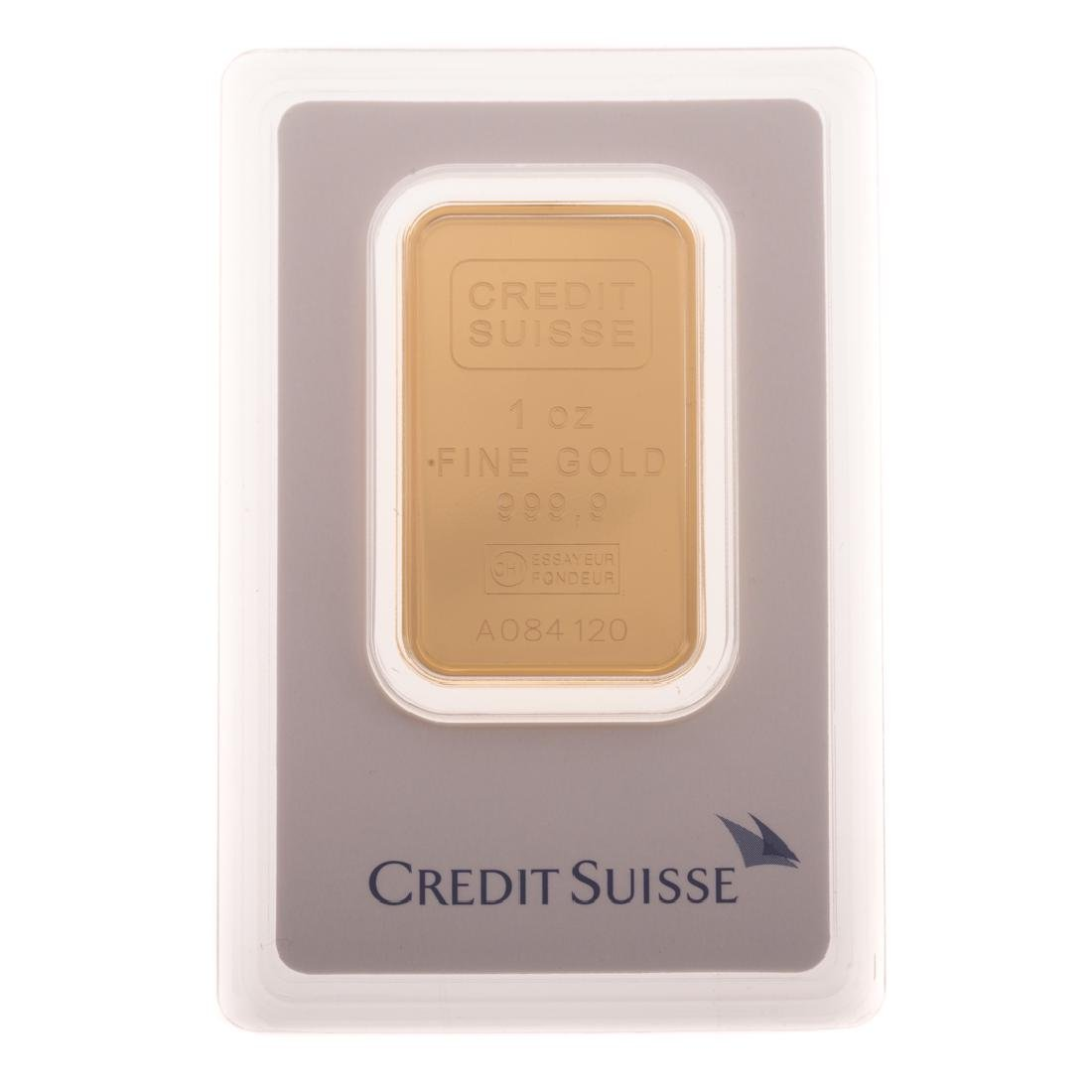 [US] 1 Ounce .999 Gold Bar - Credit Suisse