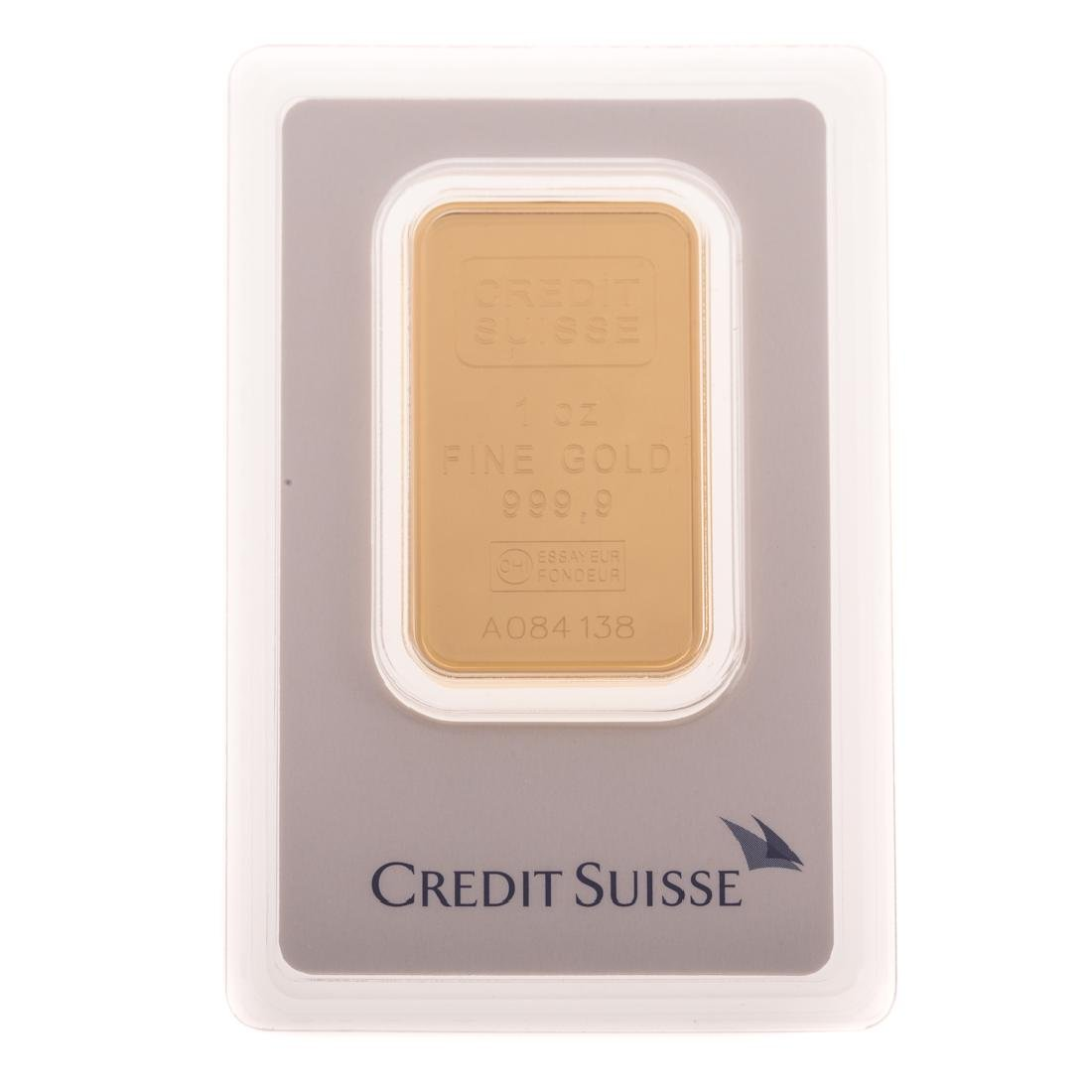 [US] 1 Ounce .999 Gold Bar - By Credit Suisse