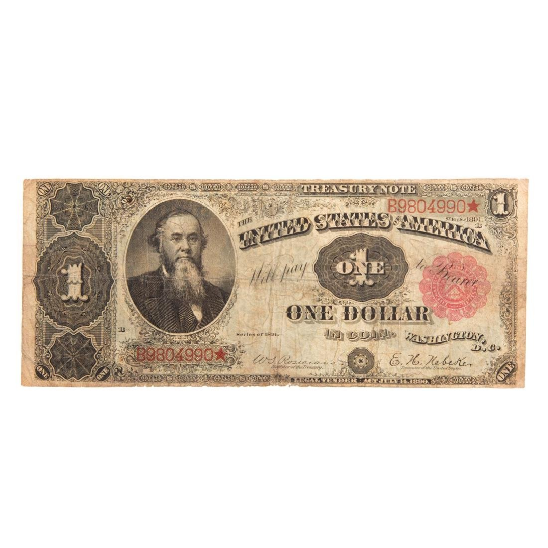 [US] 1891 $1 Treasury Note FR-349