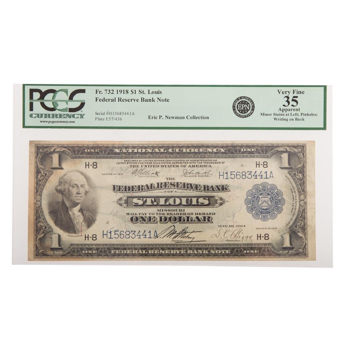 [US] 1918 $1 FRBN PCGS-35 Apparent, ex Newman