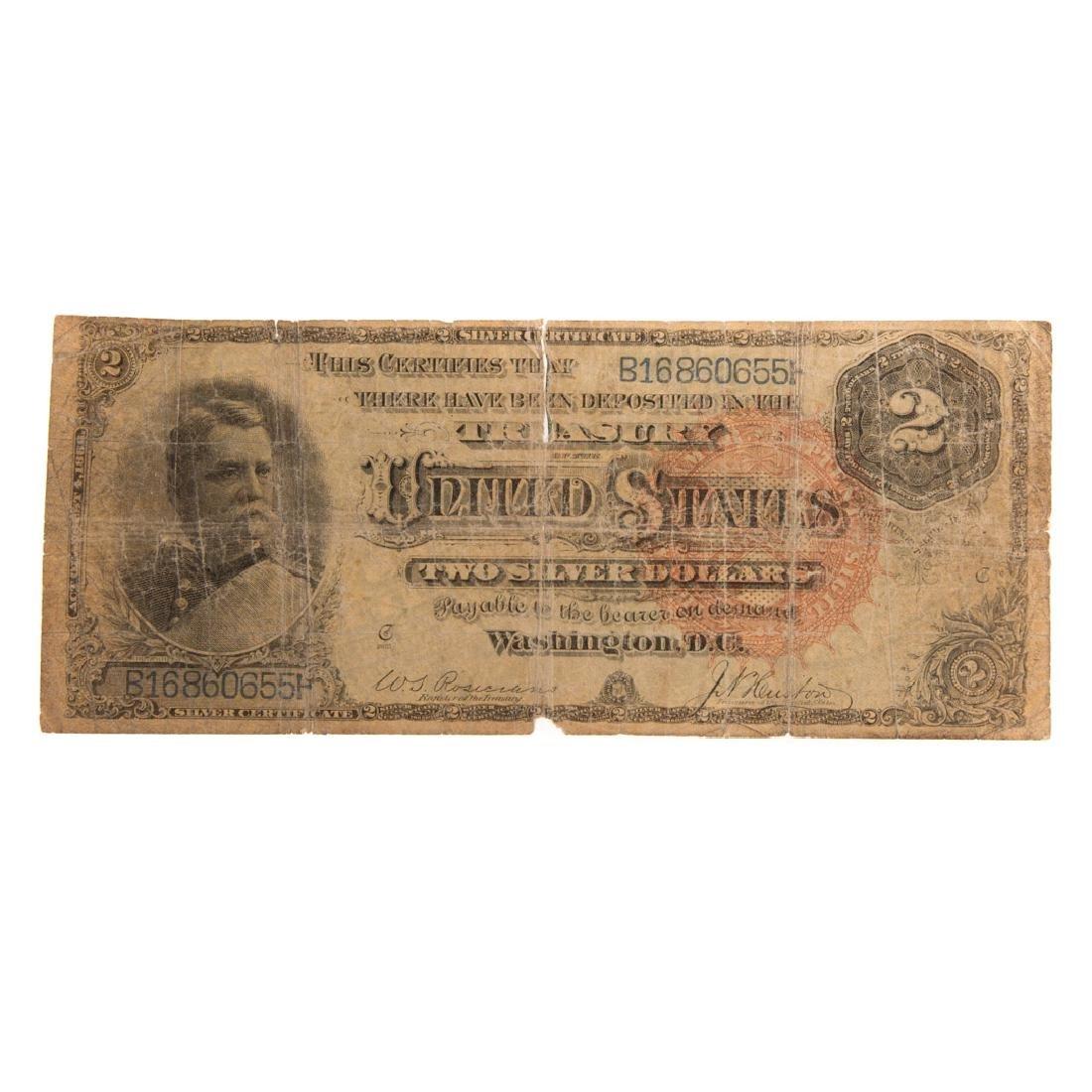 [US] 1886 $2 Silver Certificate FR-243