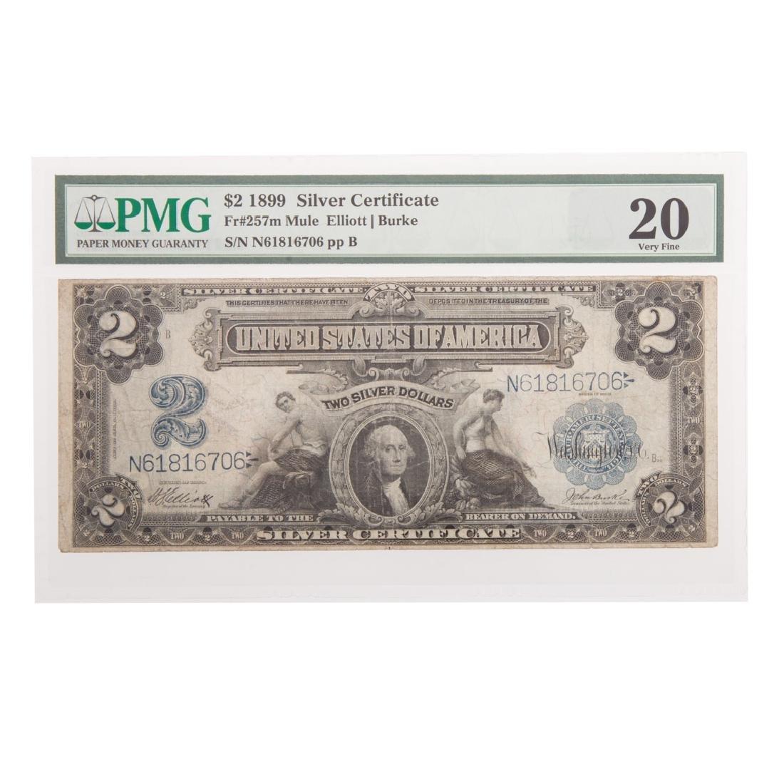 [US] 1899 $2 Silver Certificate FR-257m PMG-20