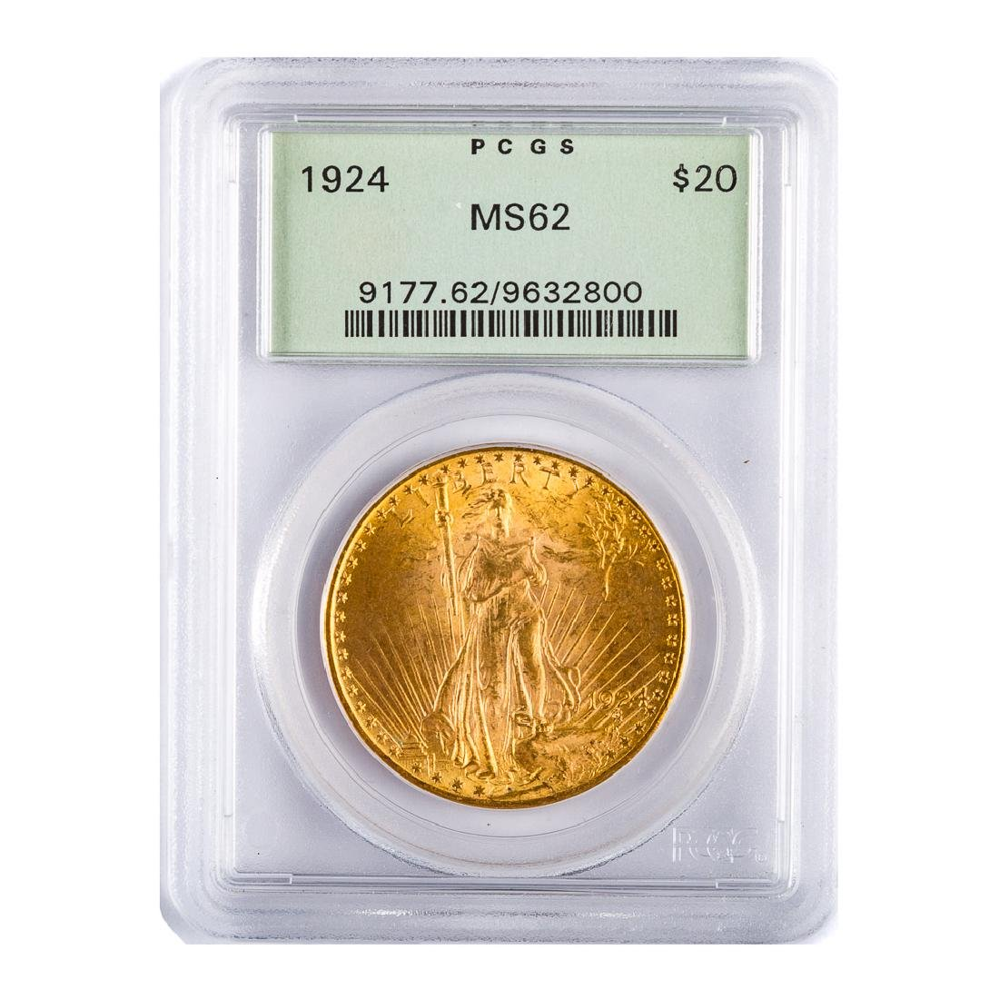 [US] 1924 $20 St. Gaudens PCGS MS62 OGH