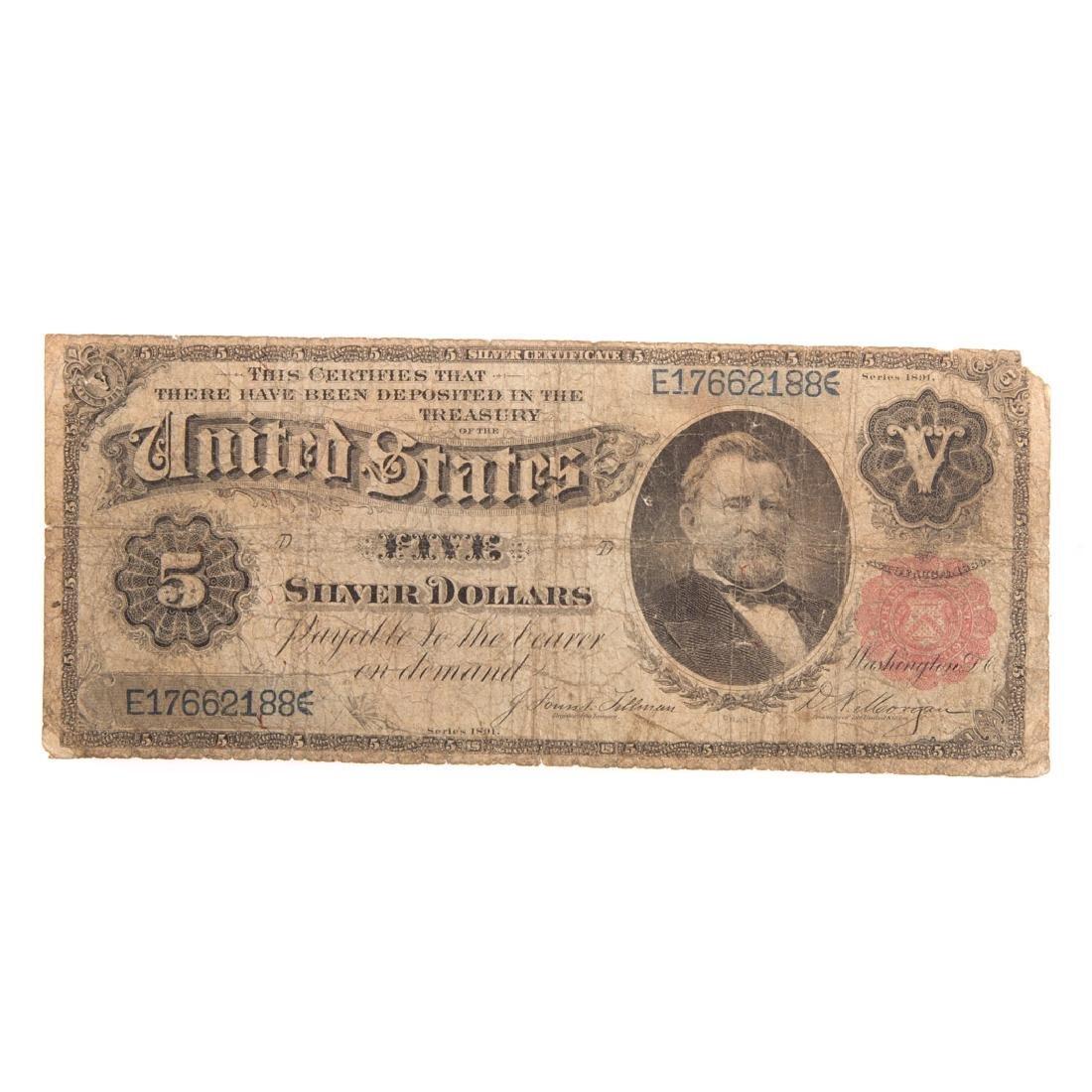 [US] 1891 $5 Silver certificate FR-267