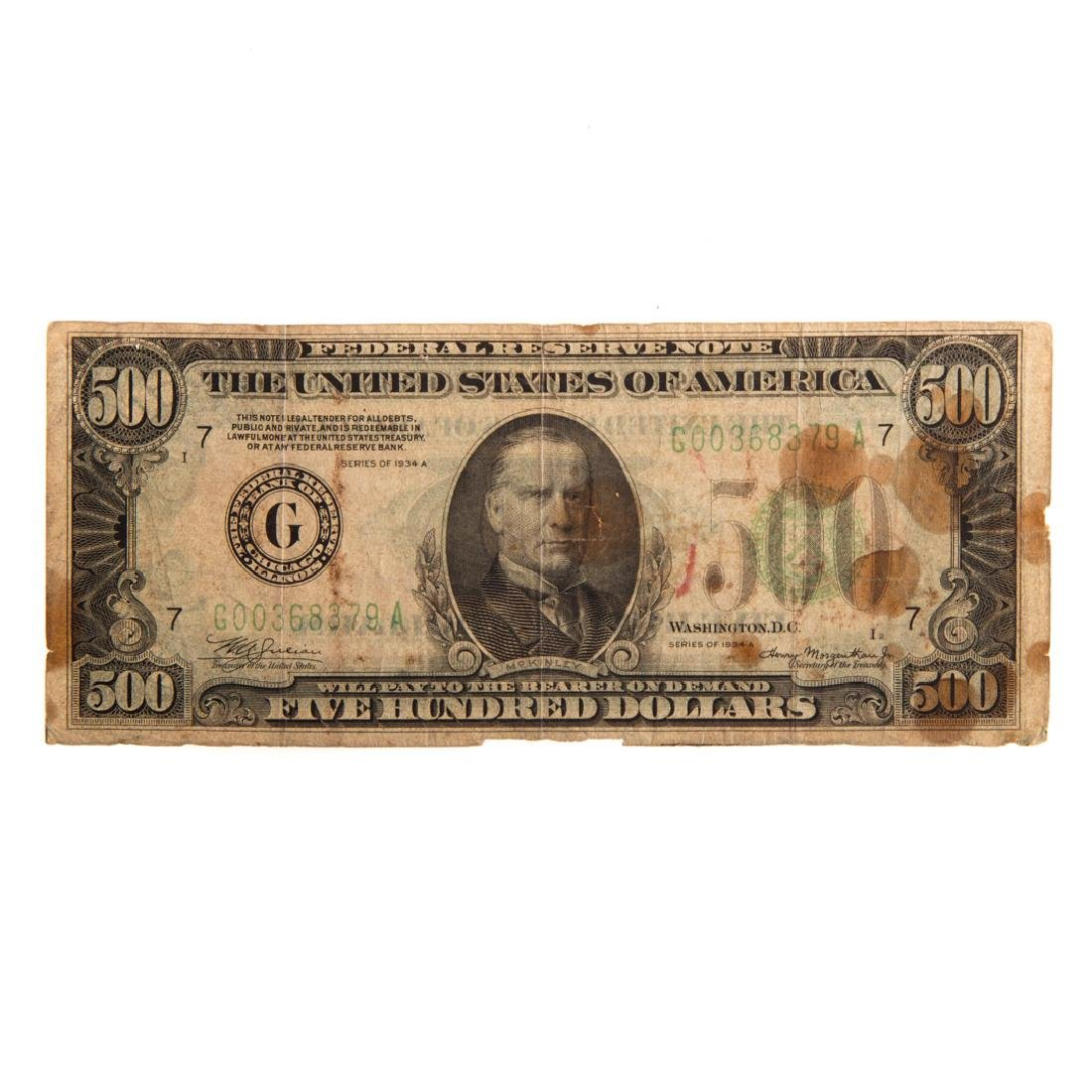 [US] 1934-A $500 Federal Reserve Note FR-2202