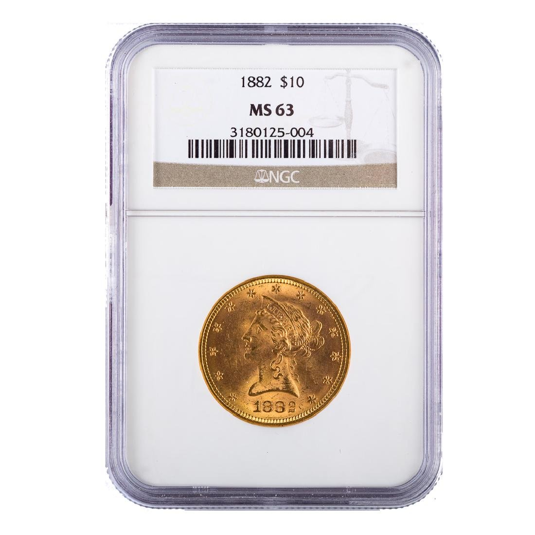 [US] 1882 $10 Liberty Gold eagle NGC MS63
