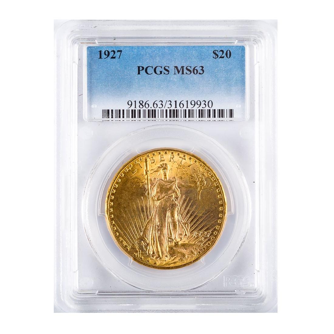 [US] 1927 $20 St.. Gaudens PCGS MS63