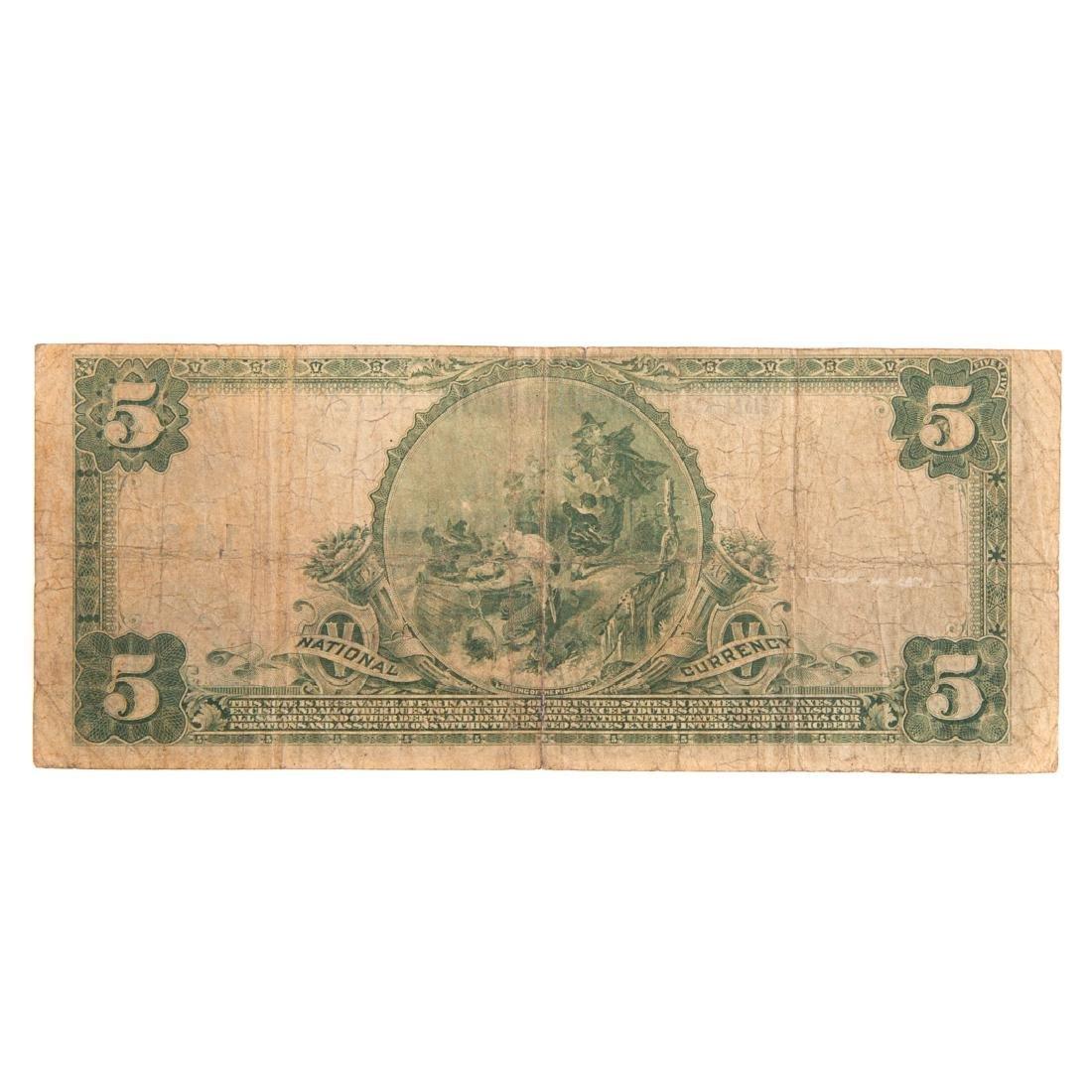 [US] 1902 $5 Plain Back Ch# 1432 FR-598 Baltimore - 2