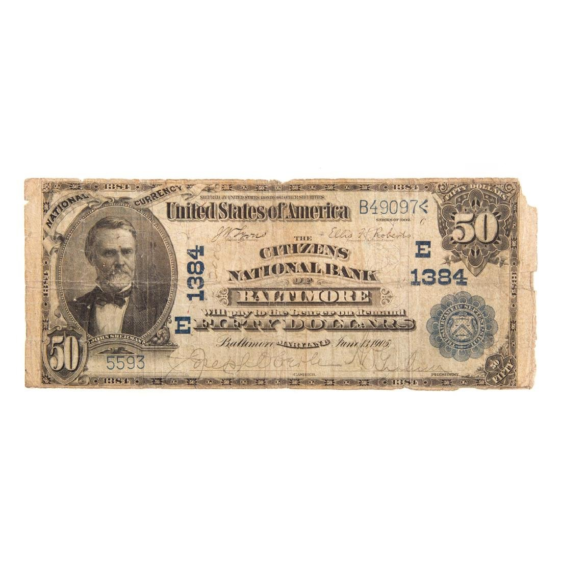 [US] 1902 $50 Date Back CH#1384 Fr-667 Baltimore