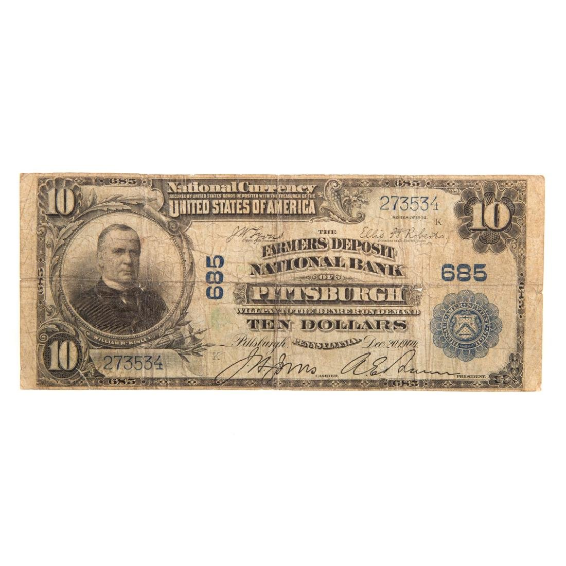 [US] $10 1902 Plain Back Ch#685 Fr-624