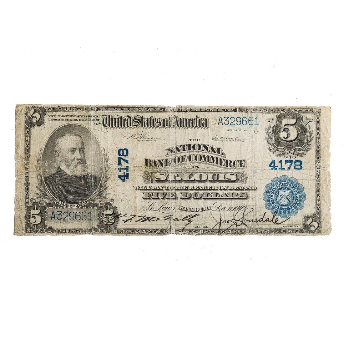 [US] $5 1902 Plain Back CH# 4178 Fr-601