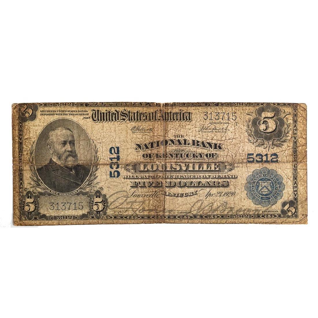 [US] $5 1902 Plain Bank CH# 5312 Fr-607