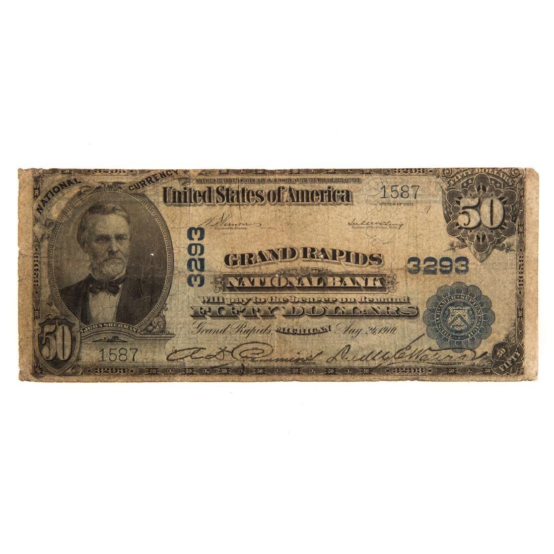[US] $50 1902 Plain Back Ch# 3293 Fr-678