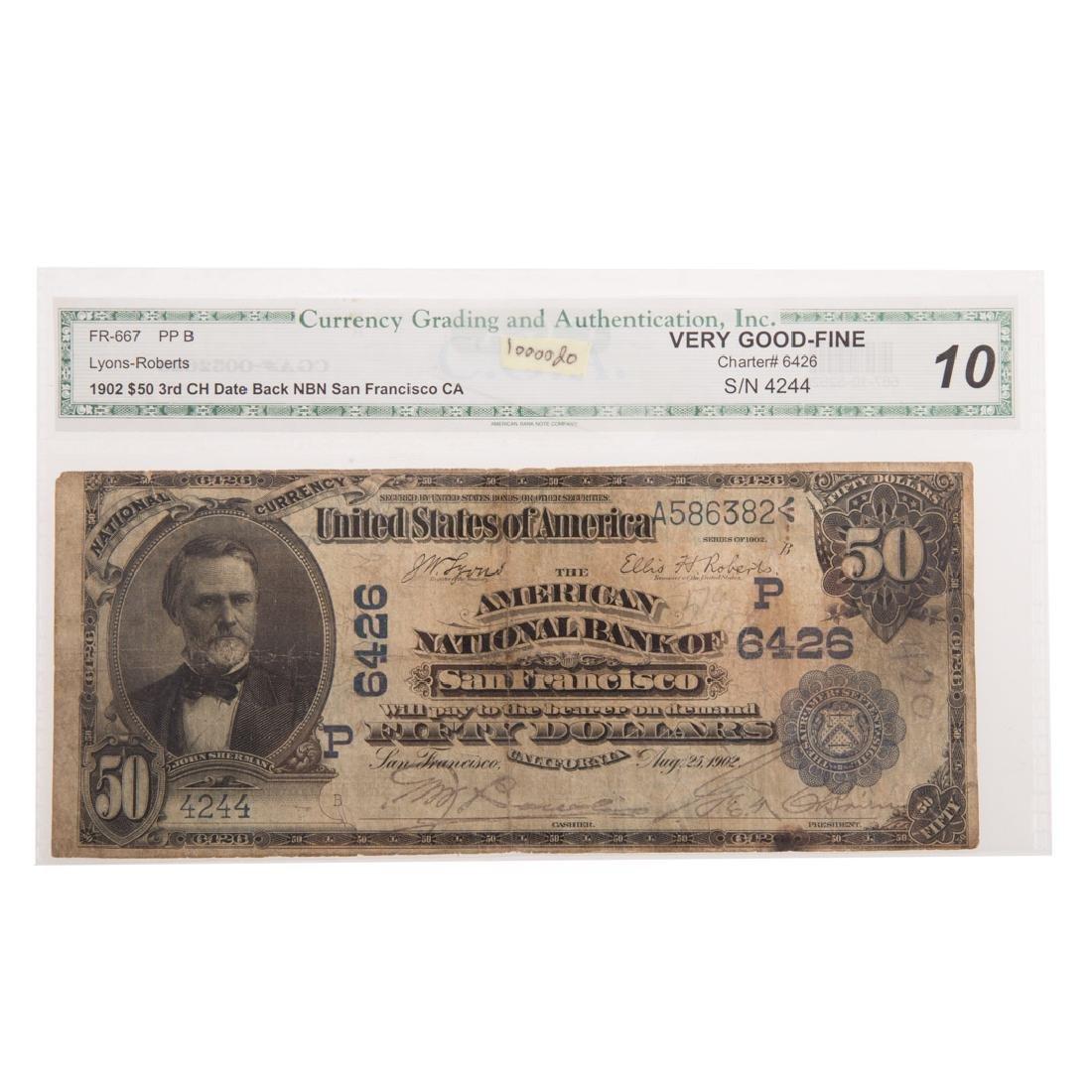 [US] $50 1902 Date Back Ch#6426 Fr-667 CGA-VG10