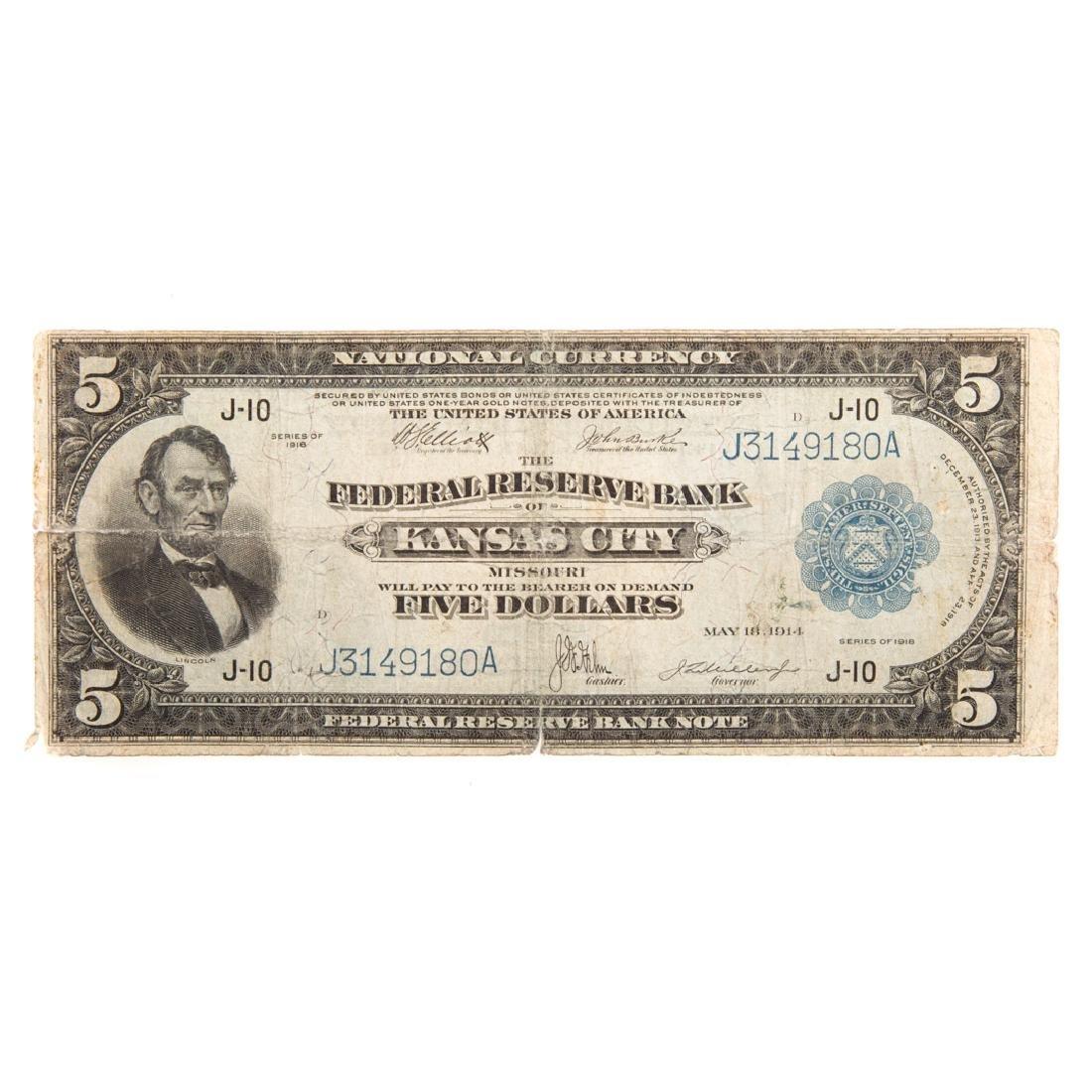 [US] 1914 $5 Federal Reserve Bank Note Fr-804