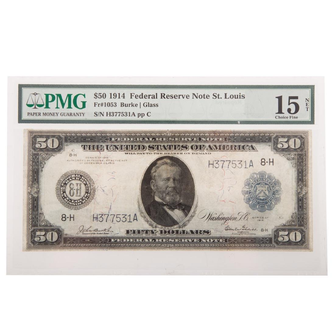 [US] 1914 $50 Fed Reserve Note Fr-1053 PMG-F15