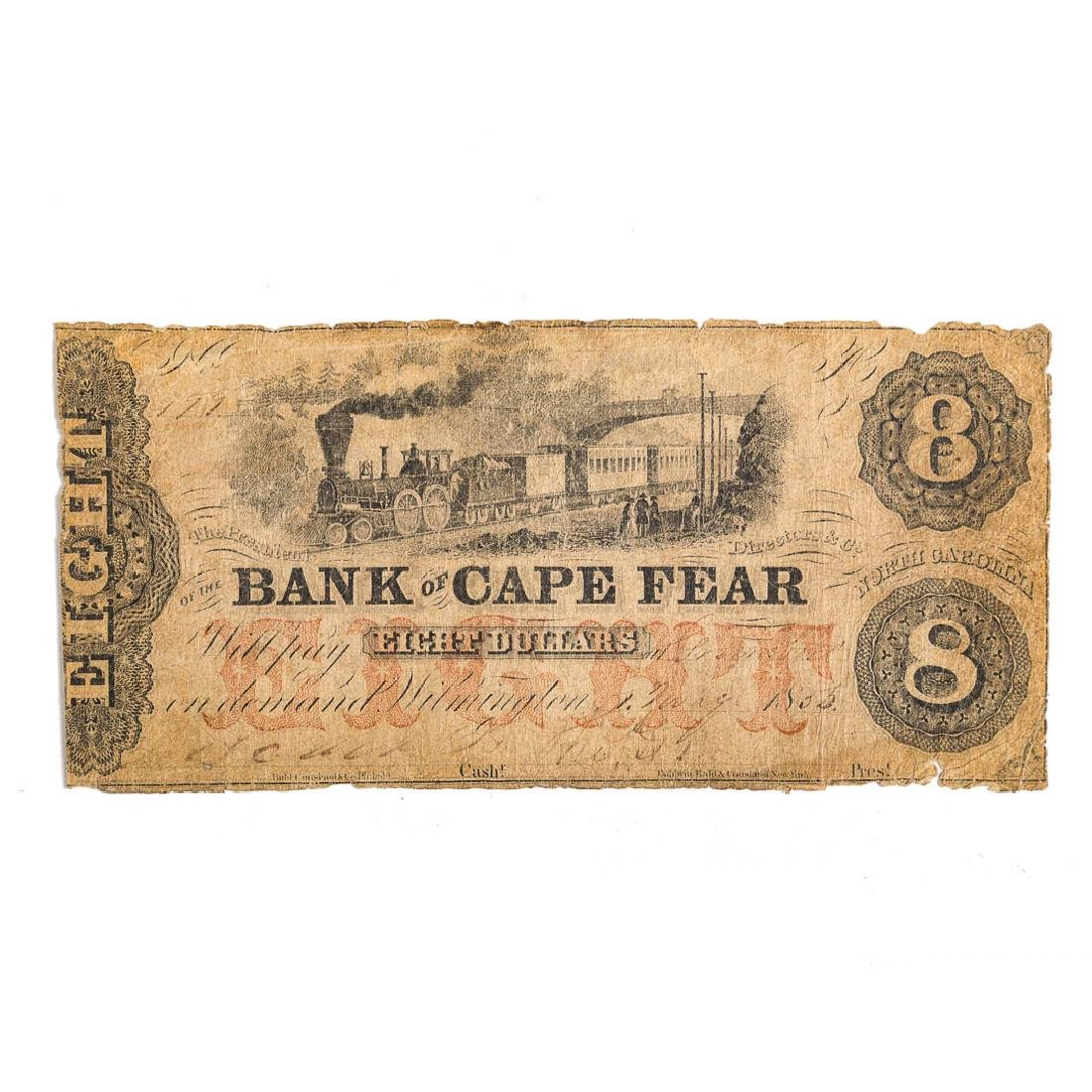 [US] $8 Bank of Cape Fear 2 May, 1855