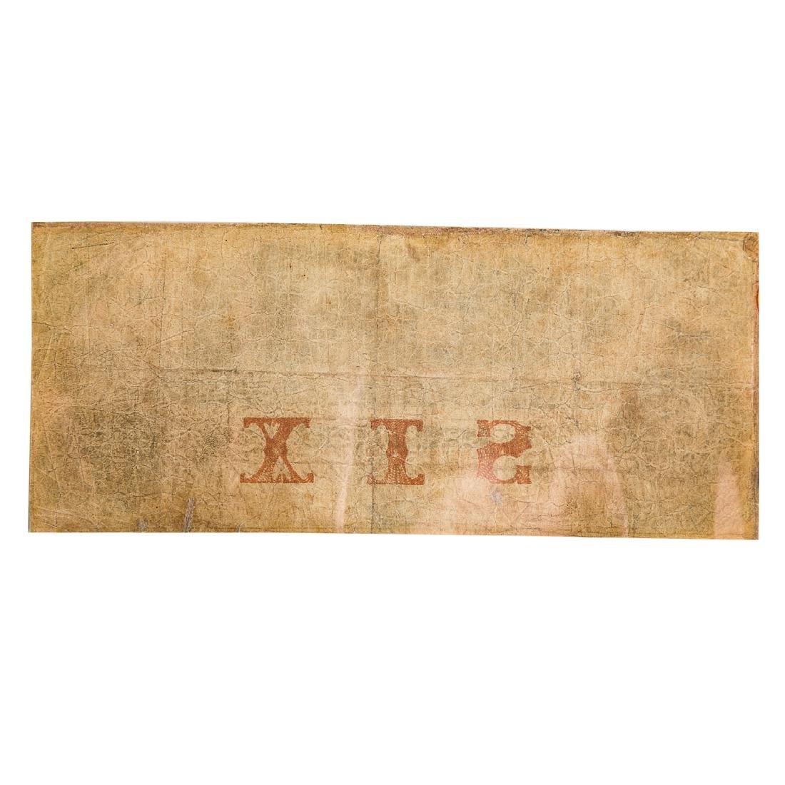[US] $6 Bank of Wilmington,NC Sept 10 1855 Fine - 2