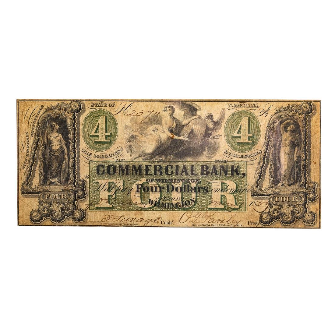 [US] $4 Commercial Bank of Wilmington, NC 1859