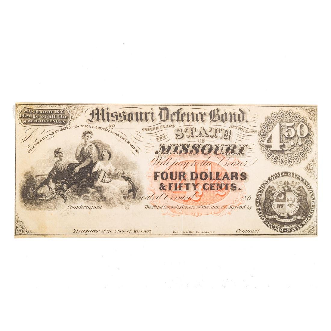 [US] Missouri Defence Bond $4.50 Remainder