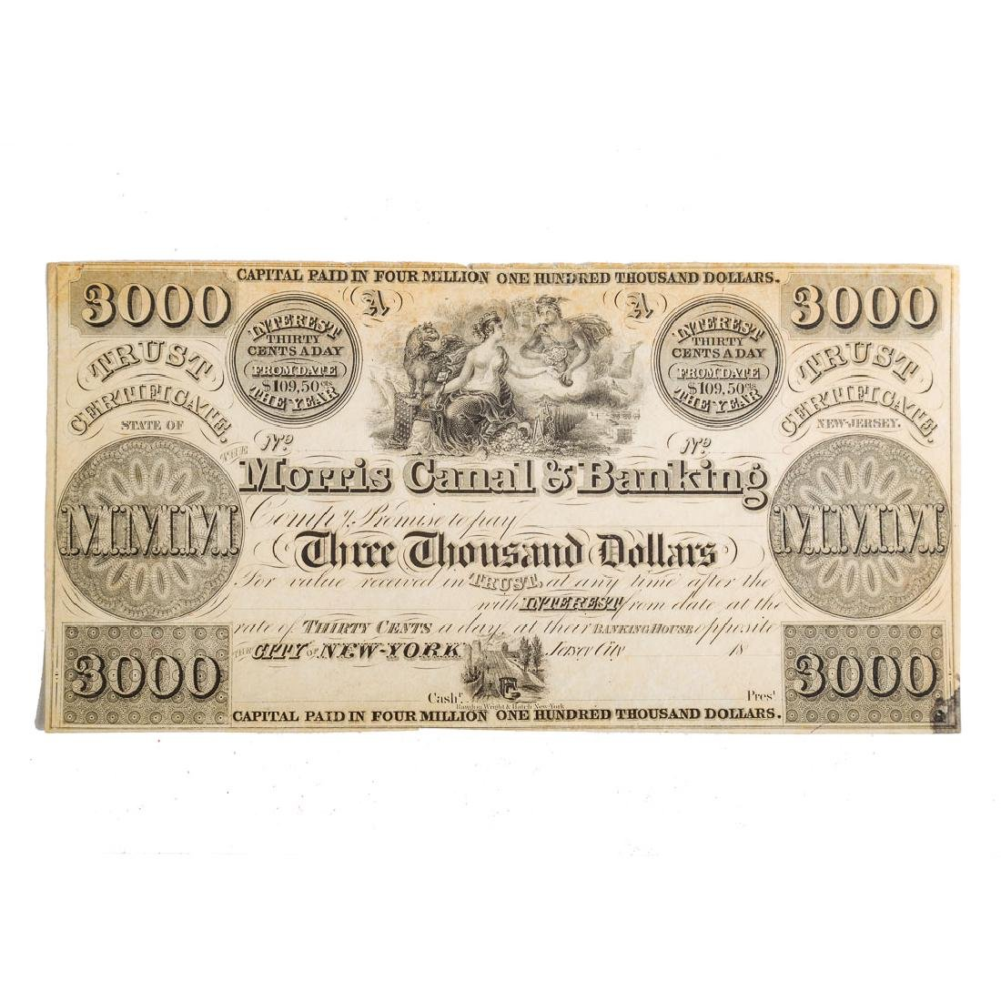 [US] The Morris Canal & Banking $3000 Remainder