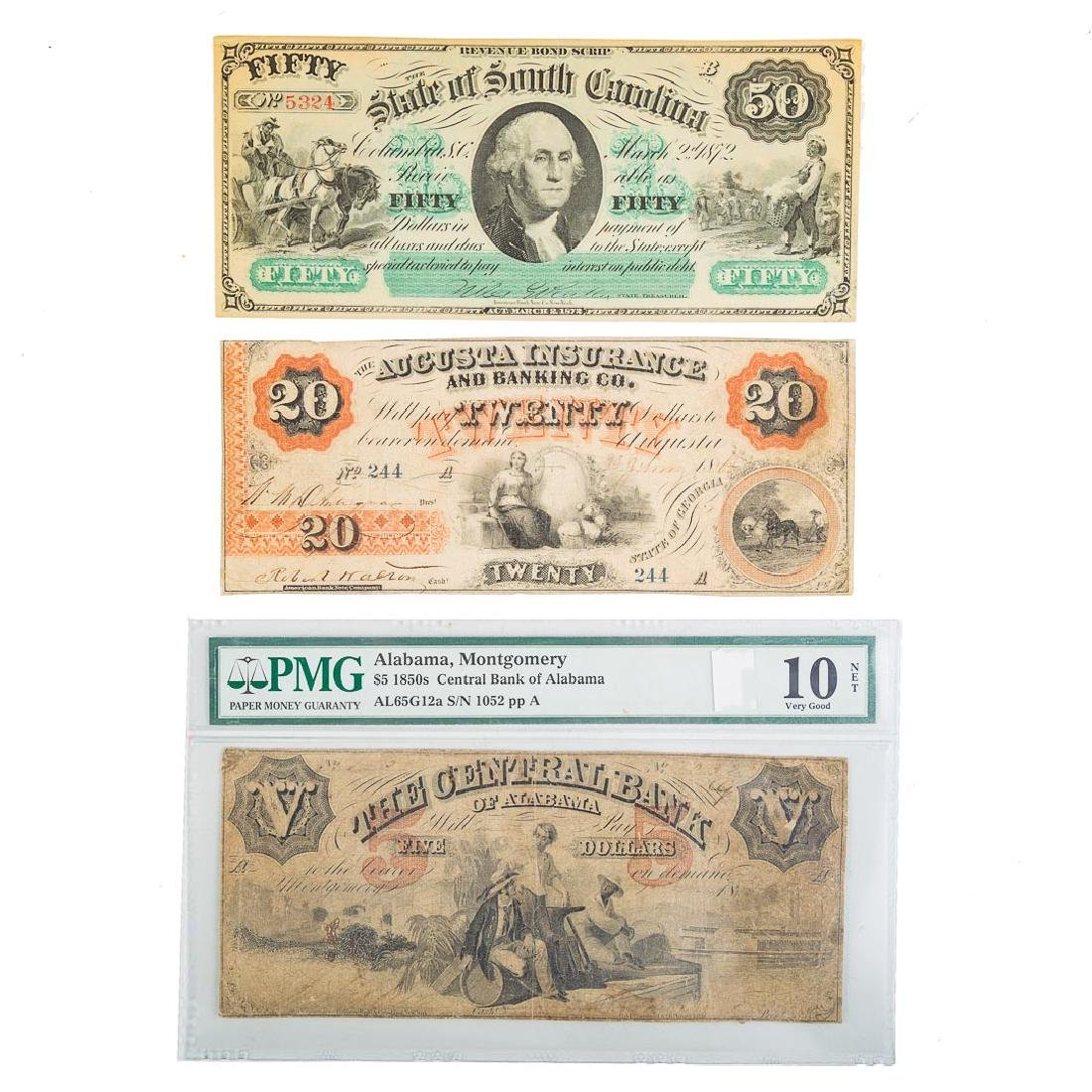 [US[ Three Southern Obsolete Notes