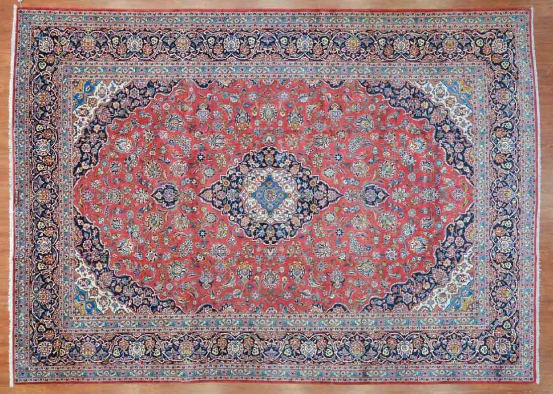 Persian Keshan carpet, approx. 9.8 x 13.7