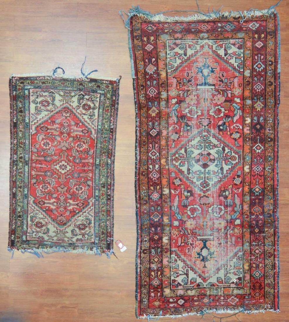 Two Persian Hamadan rugs, Iran, circa 1950