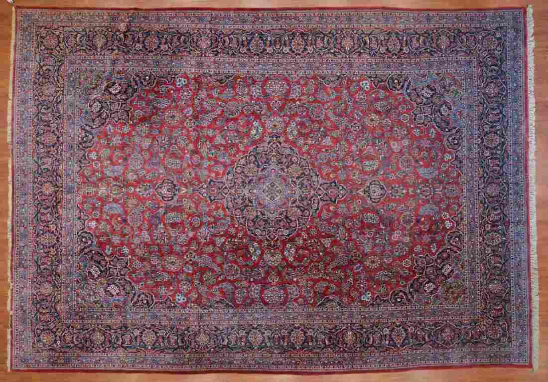Persian Keshan carpet, approx. 10.4 x 14.5