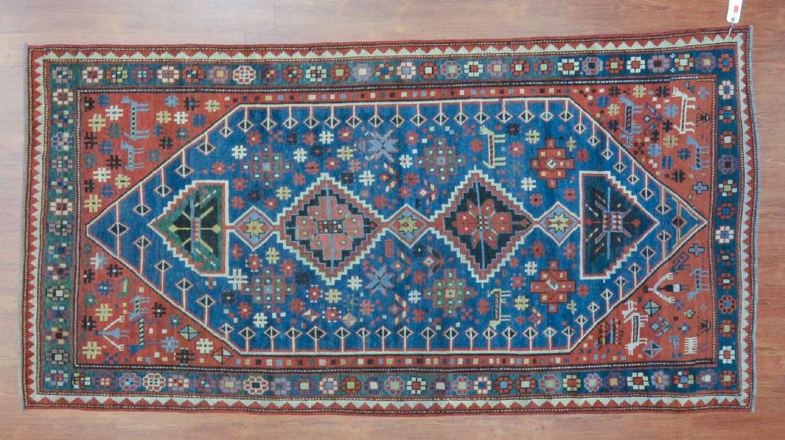 Antique Kazak rug, approx. 3.10 x 7.7