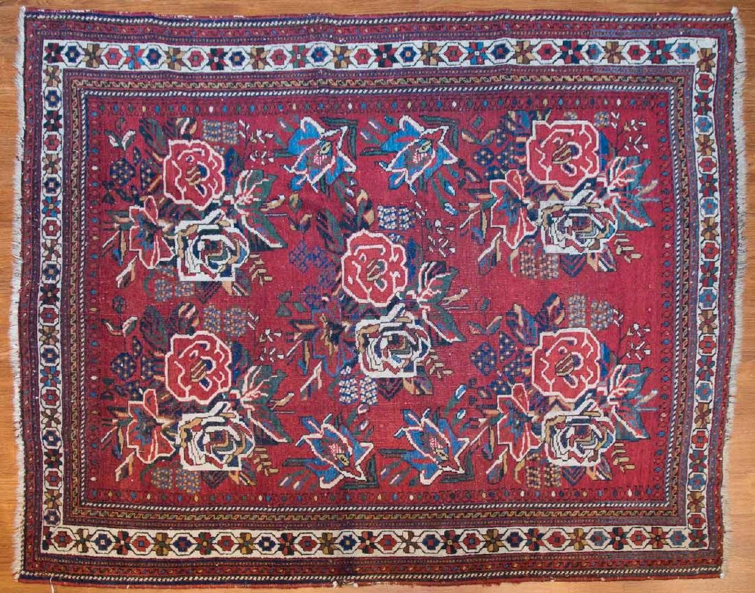 Antique Afshar rug, approx. 4.4 x 5.8