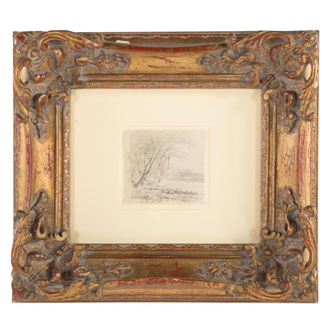 Camille Pissarro. Landscape, graphite