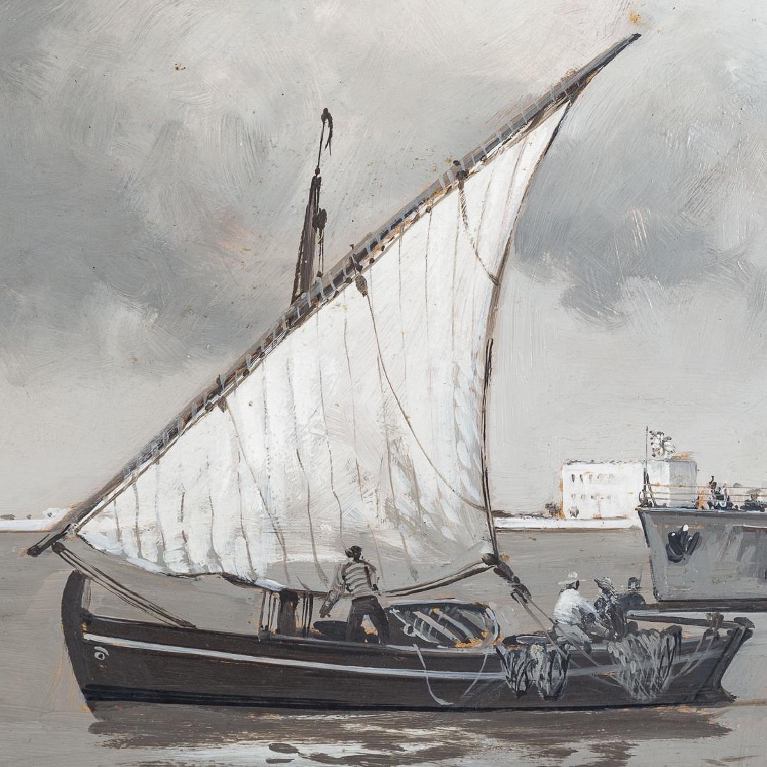 Montague Dawson. British Destroyer-Valetta Harbor - 3