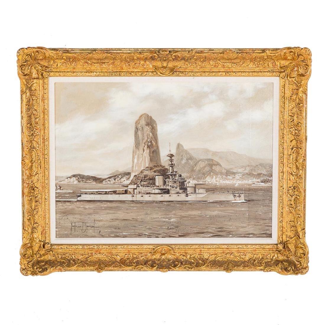 Montague Dawson. British Destroyer-Rio de Janeiro