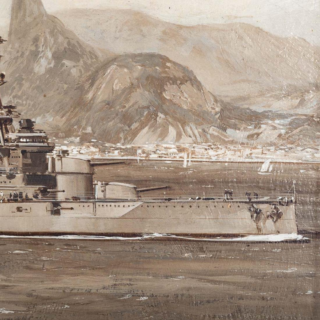 Montague Dawson. British Destroyer-Rio de Janeiro - 3