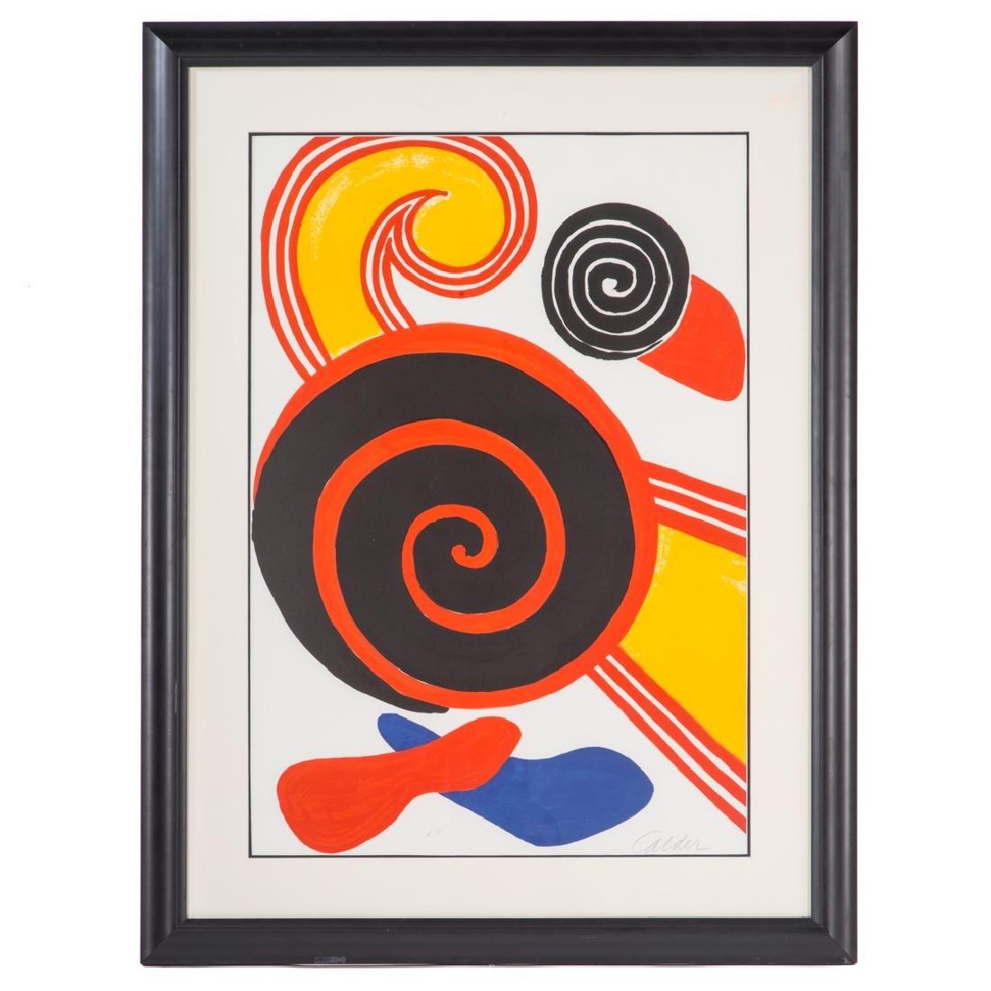 "Alexander Calder. ""Spirals,"" color lithograph"