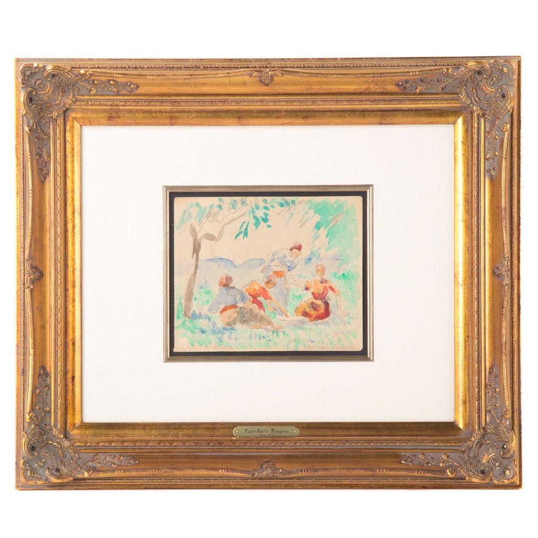 Paul-Emile Pissarro. Les Femmes sur L'Herbe, w/c