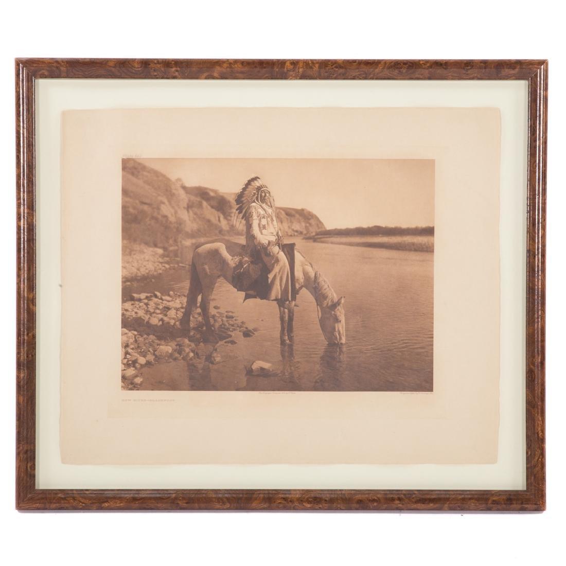 "Edward Curtis. ""Bow River-Blackfoot,"" photogravure"