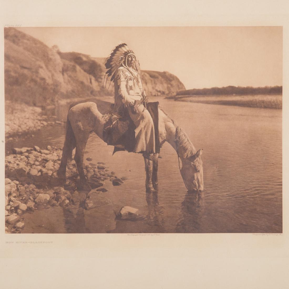 "Edward Curtis. ""Bow River-Blackfoot,"" photogravure - 2"