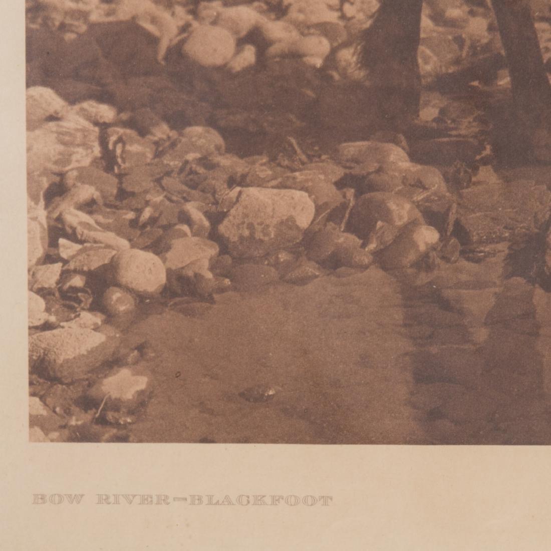 "Edward Curtis. ""Bow River-Blackfoot,"" photogravure - 3"