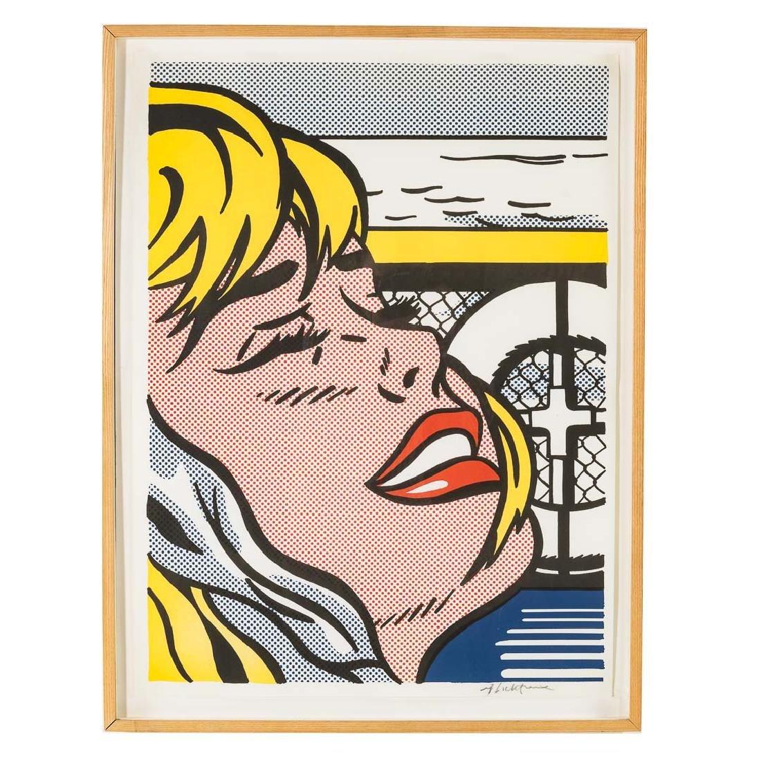 """Roy Lichtenstein. """"Shipboard Girl,"""" offset litho"""