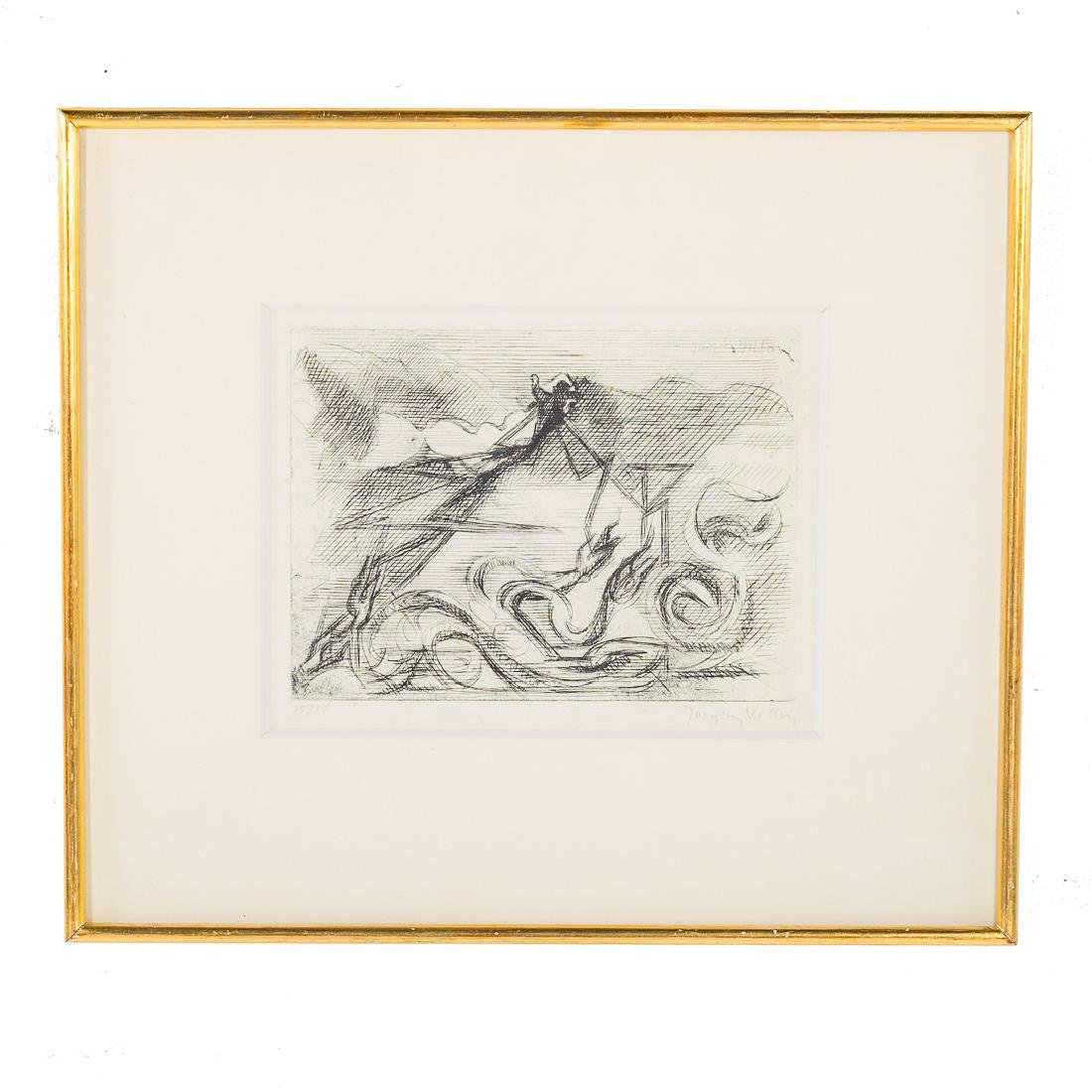 Jacques Villon. Untitled, etching